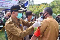 Pjs Bupati Sintang Sampaikan Penularan Covid-19 Dari Luar Saat Hadiri Launching Desa Tangkal Covid-19