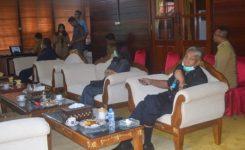 Foto:Bupati Sintang,Jarot Winarno Pimpin Rapat Di Rumah Jabatan Bupati Sintang