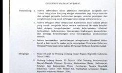 Ketua DPD LPM Provinsi Kal-Bar Apresiasi Pergub Untuk Peladang Yang Dikeluarkan Gubernur Kal-Bar