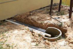 Bangunan Toilet SMK Negeri 1 Ketungau Tengah  Di duga  Anggaran Di Korupsi