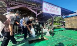 Launching Kerambak Ikan Humaniora Milik Kodim 1205/Sintang, Jarot: Konsumsi Ikan di Kabupaten Sintang Masih Rendah.