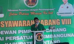 Buka Muscab VIII Partai PPP , Ketua DPC Teteskan Air Mata Saat Sebut Bupati Sintang
