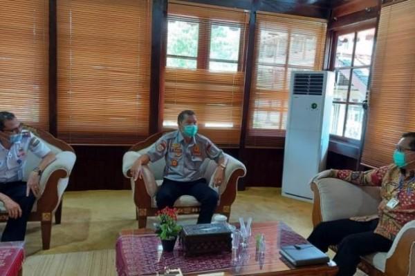 Kunjungan Kepala BPTD Kalbar di Pendopo Diterima Pjs Bupati Sintang