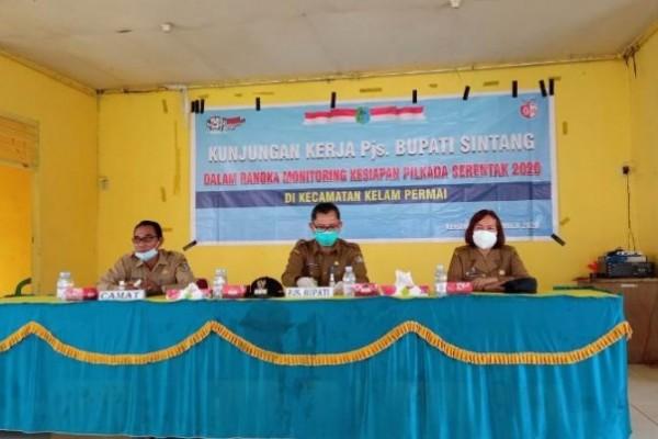 Pjs Bupati Sintang Arahkan Semua Elemen di Kecamatan Kelam Permai Cegah Penularan Covid-19