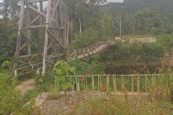 Jembatan Sekapat(Batang Antu) Mangkrak, Di Konfirmasi Kejelasan Semua Lempar Tanggung Jawab